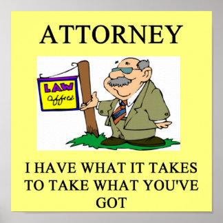 abogados y chiste de los abogados poster