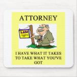 abogados y chiste de los abogados alfombrillas de raton