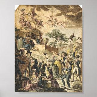 Abolición francesa de la esclavitud póster