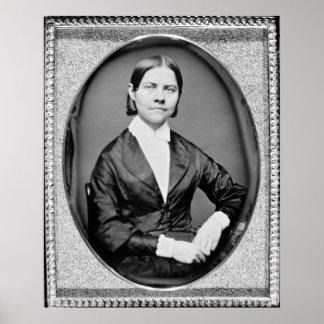 Abolicionista y sufragista americanos de piedra de póster