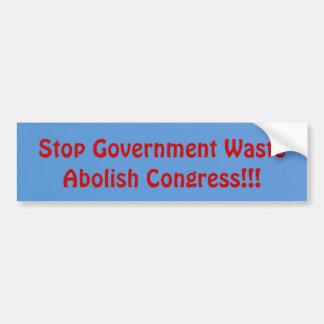 Abolish Congress Car Bumper Sticker