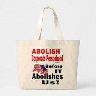 Abolish CorporatePersonhood Before it Abolishes Us Canvas Bag