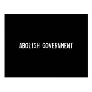 abolish government postcard