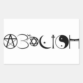 Abolish Merchandise Rectangular Sticker