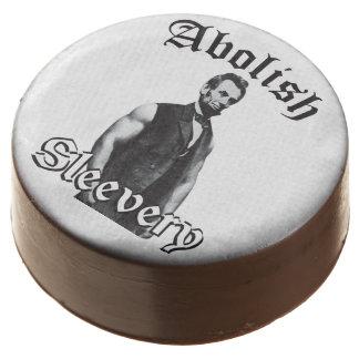 Abolish Sleevery - Abraham Lincoln Chocolate Dipped Oreo