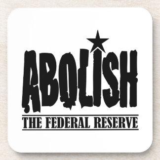 Abolish The Fed Beverage Coaster