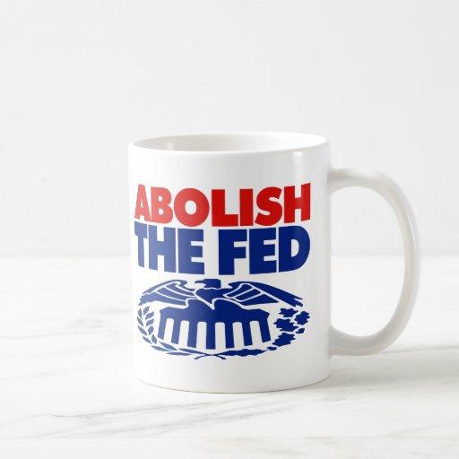 Abolish the FED Classic White Coffee Mug