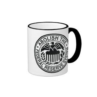 Abolish The Federal Reserve Ringer Mug