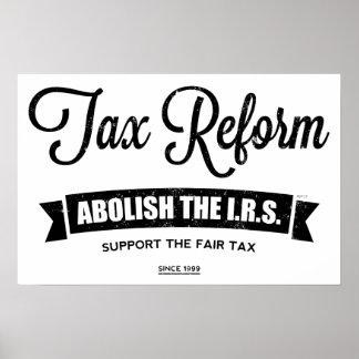 Abolish The I.R.S. Poster