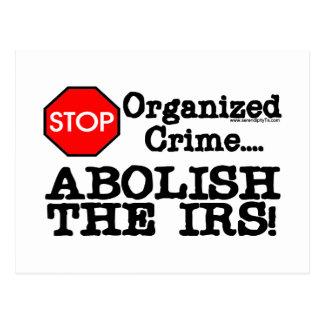 Abolish the IRS! Postcard