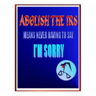 Abolish The IRS Postcard
