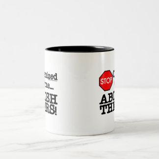 Abolish the IRS! Two-Tone Coffee Mug