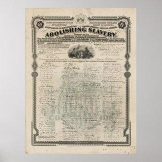 Abolishing Slavery Proposal for the 13th Amendment Poster