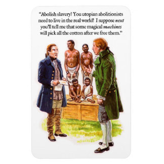 Abolitionism Satire Rectangle Magnets