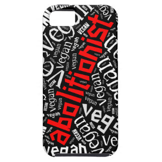 """Abolitionist Vegan"" Word-Cloud Mosaic iPhone SE/5/5s Case"
