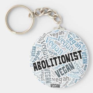 """Abolitionist Vegan"" Word-Cloud Mosaic Keychain"