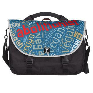 """Abolitionist Vegan"" Word-Cloud Mosaic Commuter Bag"