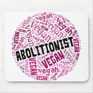 """Abolitionist Vegan"" Word-Cloud Mosaic Mouse Pad"