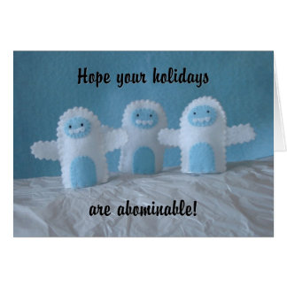 Abominable Holidays Card