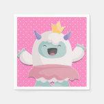 Abominable Snow Princess Yeti to Celebrate Girls Napkin