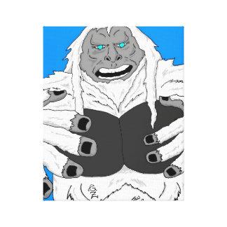 Abominable snowman canvas