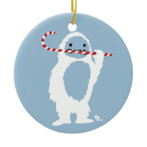 Abominable Snowman Holiday Ornament