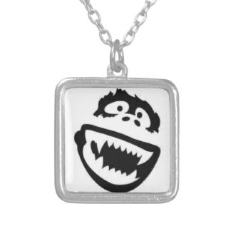 Abominable Snowman Square Pendant Necklace