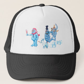 Abominable Snowmen and Dog Trucker Hat