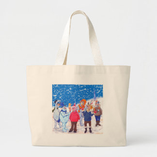 abominable Snowmen of Pluto and Space Cows Jumbo Tote Bag