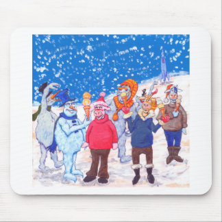 abominable Snowmen of Pluto and Space Cows Mouse Pad