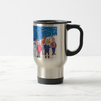 abominable Snowmen of Pluto and Space Cows Travel Mug