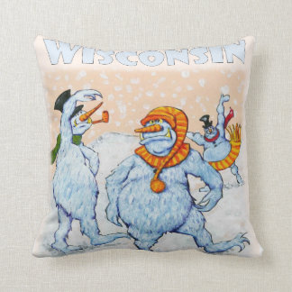 Abominable Snowmen of Wisconsin and Minnesota Pillow