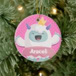 Abominable Yeti Princess Girls Personalized Ceramic Ornament