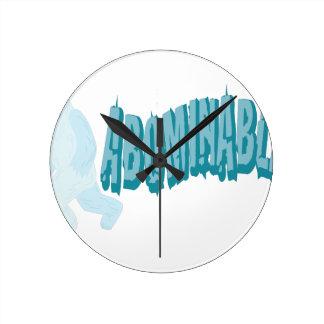 Abominable Yeti Round Clock