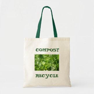 abone y recicle el bolso amistoso del eco bolsa