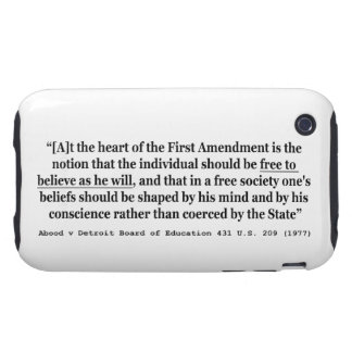 Abood v Detroit Board of Education 431 US 209 1977 Tough iPhone 3 Cover