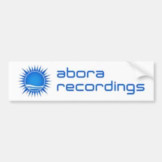 Abora Recordings Bumper Sticker (Blue) Car Bumper Sticker