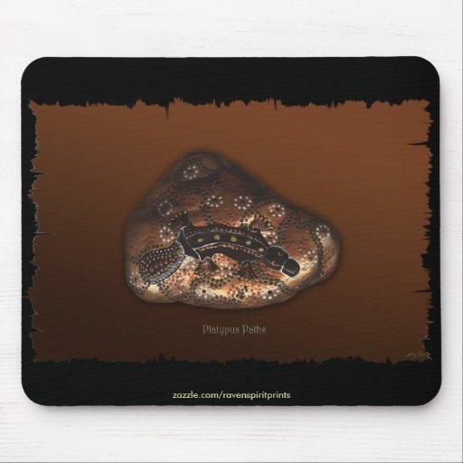 Aborigen-estilo australiano Platypus Tapetes De Ratones