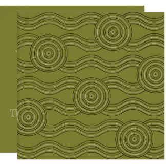 Aboriginal art bush card