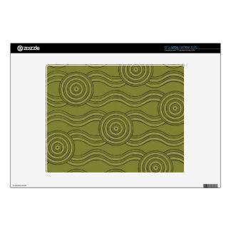 Aboriginal art bush laptop decals