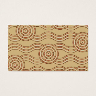 Aboriginal art earth business card
