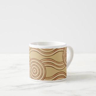 Aboriginal art earth espresso cup