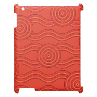 Aboriginal art fire cover for the iPad 2 3 4