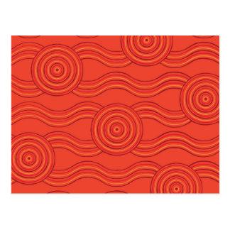 Aboriginal art fire postcard