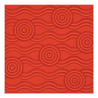 Aboriginal art fire poster