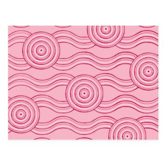 Aboriginal art gumnut blossoms postcard