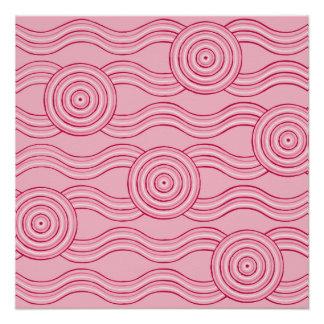 Aboriginal art gumnut blossoms poster