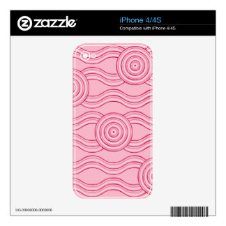 Aboriginal art gumnut blossoms skin for the iPhone 4S