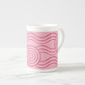 Aboriginal art gumnut blossoms tea cup