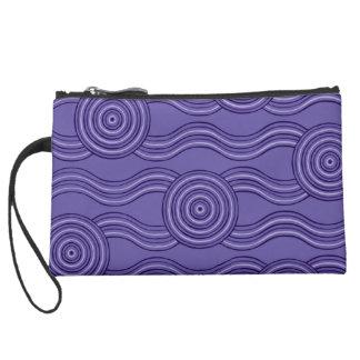Aboriginal art melaleuca suede wristlet wallet